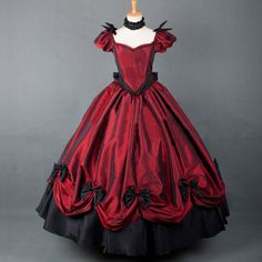 Department Name:Adult;Gender:Women  Material:Satin  Sleeve Length:Short  Included: Dress&Petticoat  Character:Renaissance Costumes  Color:As Shown  Si