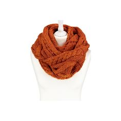 George Cable Knit Snood (€9,02) ❤ liked on Polyvore featuring accessories, scarves, bronze, cable knit shawl, cable knit scarves and snood scarves