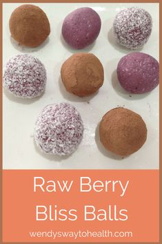 Try these delish fruity bliss balls today!