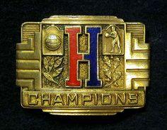 "1920-30's Brass Basketball ""Champions"" Belt Buckle $250"