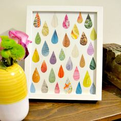 Easy Raindrop Magazine Art...this would be cute with one direction photos from a magazine.