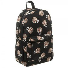 STAR-WARS-VII-7-FORCE-AWAKENS-Licensed-DELUXE-BB-8-DROID-Allover-Print-BACKPACK