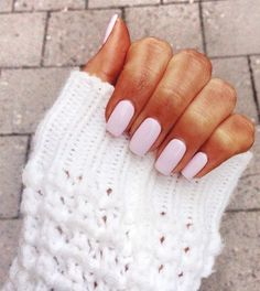 Light Pink Vernished Nails