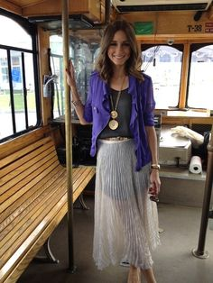 Snapped: Olivia Palermo on the Trolley to Polo Event