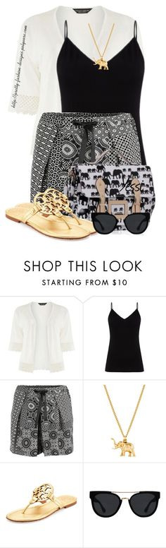 """~ 💕 Pleated Shorts 💕 ~"" by pretty-fashion-designs ❤ liked on Polyvore featuring Dorothy Perkins, Diane Von Furstenberg, Dex, Tory Burch and Quay"