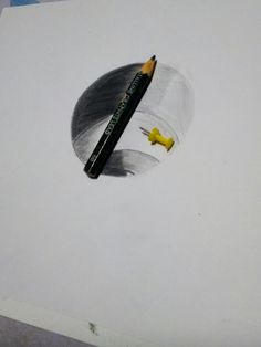 Drawing Realistic 3 D Hole Optical illusion