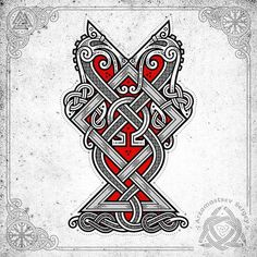 """Creators of the game """"God of War"""" is dedicated to (vector graphics in CorelDraw, workflow, t-shirt project) - for fun 🔥🤘thanks so much for the great game 💪🔥 Pagan Tattoo, War Tattoo, Norse Tattoo, Celtic Tattoos, Viking Tattoos, Nordic Symbols, Viking Symbols, Viking Art, Viking Designs"""