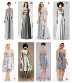 Silver bridesmaid dresses inspiration