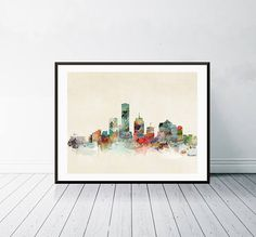 milwaukee wisconsin . milwaukee city skyline.colorful modern Detroit Skyline, Nashville Skyline, Nashville Tennessee, Minneapolis City, Milwaukee City, Milwaukee Wisconsin, Art Fantaisiste, Art Mural, City Skyline Art