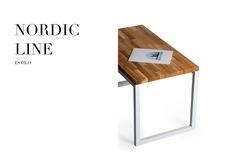 Stół - Estilo Nordic Line Rozmiar: 130cm długość x 65 szerokość x 75cm wysokość Grubość blatu stołu: 2,7cm Wykończenie: jesion lakierowany, stal lakierowana proszkowo, kolor biel. Grubość blatu stołu: 2,7cm Wykończenie: jesion lakierowany, stal lakierowana proszkowo. Chętnych do zakupu zapraszamy na naszą stronę internetową. Dostępne warianty wykończeń są związane z wyceną indywidualną. Drewno: dąb, jesion, buk oraz akacja. Rozmiar: możemy wykonać według zamówienia. www.estilo-art.pl