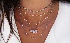 14kt gold moonstone flower bud necklace – Luna Skye