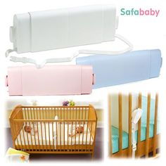 Safababy Sleeper - Baby Safety Cot Divider   ...for when the cot is still a bit too big. Also stops baby from wriggling down.