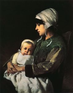 .:. Mother and Child Charles Sprague Pearce - circa 1880