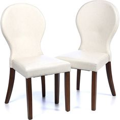 Sharon Side Chair | Faux leather upholstery with walnut legs | 37h x 18w x 23d | $170
