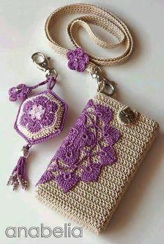 Crochet Phone Cover Free Crochet Bag Patterns Part 14 - Beautiful Crochet Patterns and Knitting Patterns - Free Crochet Bag Patterns Part 14 Crochet Phone Cover, Crochet Case, Crochet Shell Stitch, Crochet Diy, Love Crochet, Crochet Gifts, Beautiful Crochet, Crochet Ideas, Crochet Handbags