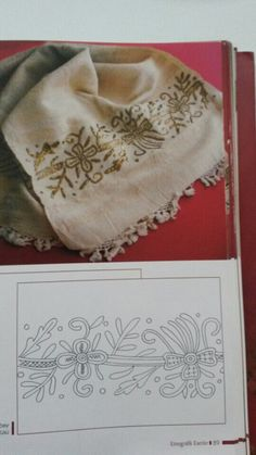 This post was discovered by fa Machine Embroidery Patterns, Quilt Patterns, Embroidery Designs, Cross Stitch Embroidery, Hand Embroidery, Flower Embroidery, World Crafts, Gold Work, Satin Stitch