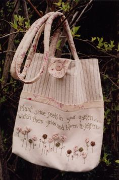 """NEW Rosalie Quinlan """"Plant Some Seeds"""" Bag Pattern"""