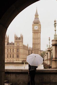 big ben and an umbrella. life in london.