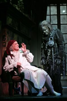 Ebenezer Scrooge and Jacob Marley in 'A Christmas Carol' by Charles Dickens. Scrooge A Christmas Carol, Christmas Carol Charles Dickens, Ghost Of Christmas Past, Charlie Brown Christmas, A Christmas Story, Vintage Christmas, Snoopy Christmas, Father Christmas, Christmas Ideas