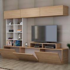 New living room white tv stand shelves 48 Ideas Tv Unit Decor, Tv Wall Decor, Diy Wall, Tv Cabinet Design, Tv Wall Design, Living Room White, Living Room Decor, White Bedroom, Tv Wanddekor
