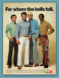 100 plus years in mens fashion bell bottoms Mode Masculine, Vintage Outfits, Vintage Fashion, Vintage Clothing, 1970s Clothing, Golf Clothing, Retro Fashion, Americana Vintage, Street Style Vintage