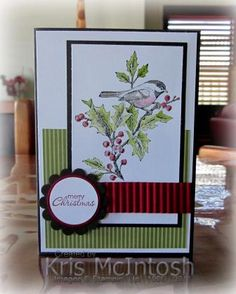 I made this card for the Technostamper challenge this week.  More details on my blog http://stampingwithkris.com/2011/11/16/a-christmas-bird/