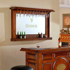 Back Bar Mirror With Shelves Google Search House Bar