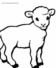 Lamb color page. Animal coloring pages. Coloring pages for kids. Thousands of free printable coloring pages for kids! Farm Animal Coloring Pages, Cute Coloring Pages, Free Printable Coloring Pages, Free Coloring, Coloring Pages For Kids, Coloring Books, Lamb Drawing, Sheep Drawing, Sheep Illustration