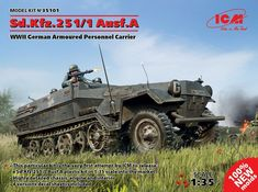 ICM 1/35 Sd.Kfz.251/1 Ausf.A WWII German Armoured Personnel Carrier # 35101 | eBay Plastic Model Kits, Plastic Models, Saturn V Rocket Model, Chinook Helicopters, Best Scale, Armoured Personnel Carrier, Supermarine Spitfire, Tamiya, Military Vehicles