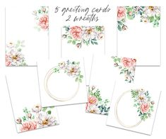 Beautiful Flowers Pictures, Flower Pictures, Birthday Invitations, Wedding Invitations, Free Advertising, Frame Wreath, Print Templates, White Roses, Watercolor Flowers