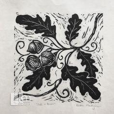 Oak and Acorn Print