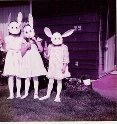 vintage rabbit costumes | Why do Easter bunny costumes always seem so creepy?