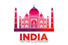 India Taj Mahal vector @creativework247