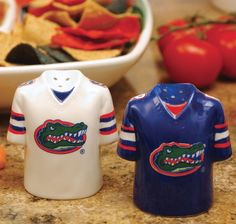 These adorable salt and pepper shakers are the perfect touch for a football party.