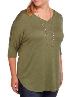 1df0212bf17ad Faded Glory Plus Size 3X Women s Soft Knit Cold-Shoulder Top Tunic V-Neck  NWT