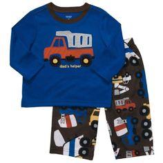 Carter's Boys 2 Piece Dumptruck Pajama Set- Dad's Helper