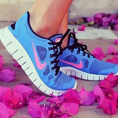 Nike Shoes, my loves - blue and pink