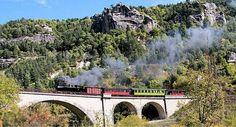 Train des pignes à Vapeur en campingcar #Mercantour Camping Car, Train, Trains