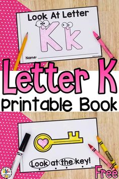 Using this free printable Letter K Book is a way for kids to practice letter recognition, review concepts of print, and identify sight words.