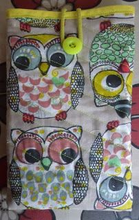 Tablet sleeve Wieth owls