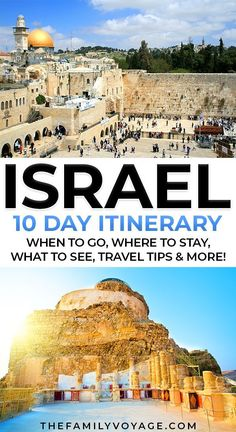 The PERFECT 10 day Israel itinerary This complete 10 day Israel itinerary has EVERY detail you need - what to do in Israel, where to stay, where to eat, the best tours to take and more! Israel Travel, Egypt Travel, Asia Travel, Middle East Destinations, Travel Destinations, Israel Tours, Israel Trip, Travel With Kids, Family Travel