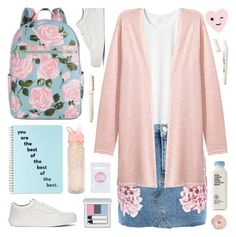 """""""pastel and floral"""" by deepwinter ❤ liked on Polyvore featuring Vans, ban.do, Topshop, H&M, RMK, Fountain, L.A. Girl, La Vie en Rose, floral and pastel"""