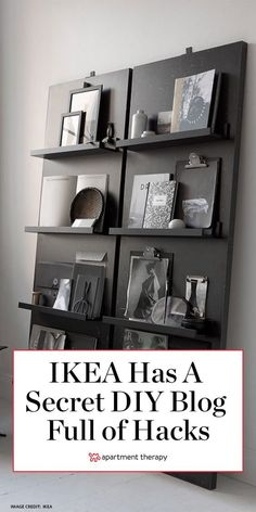 The people over at IKEA are all over the clever DIY projects shoppers have been crafting with its basics. In fact, the Swedish brand has a not-so-secret website that's a library chock-full of… Diy Projects Ikea, Home Projects, Casa Clean, Home Organization Hacks, Organizing, Diy Furniture, Dream Furniture, Furniture Refinishing, Metal Furniture