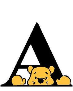 Alfabeto de Winnie de Pooh.