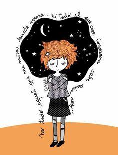 Mis pensamientos oscilan por las noches entre las estrellas, luceros, luna y me mezo en ellos