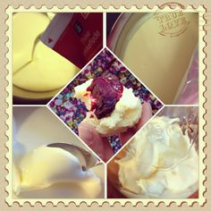 Tanternes Magasin: Hjemmelavet Clotted Cream Clotted Cream, High Tea, Scones, Cookie, Ice Cream, Yummy Food, Bread, Homemade, Desserts