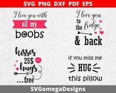 Decal, Sticker, Cricut, Valentines Design, Silhouette Vinyl, I Love You, My Love, Cutting Files, Pdf