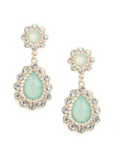 channel a victorian vibe with these jade floral drops....