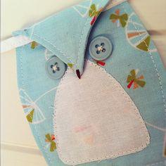 Custom Fabric Owl Bunting Garland for baby, children, nursery or home decor. Choose your fabrics.