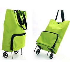 Foldable-Shopping-Trolley-On-Wheel-Folding-Totes-Luggage-Bag-Lightweight-Cart